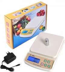 Unique Cartz SF 400A 10Kg with Adapter Digital Electronic Kitchen Weighing Scale  (White)