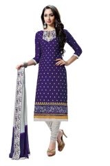 Radiant Cotton Embroidered Salwar Suit Dress Material with Chiffon Dupatta (Code-NKT1237)