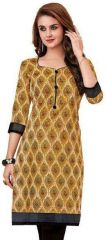 Elegant Cotton Multi Colour Printed Kurti Material (code- PR428)