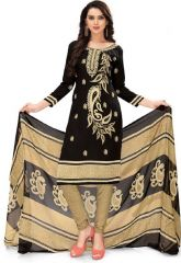 Elegant Crepe Designer Printed Unstitched Dress Material With Chiffon Dupatta (Code-RE4959)