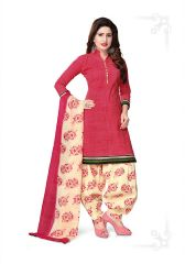Elegant Crepe Designer Printed Unstitched Dress Material With Chiffon Dupatta (Code-RE4981)