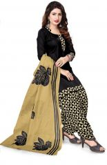 Elegant Crepe Designer Printed Unstitched Dress Material With Chiffon Dupatta (Code-RE4982)