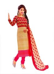 Sbe Shree Ganesh Pranjul Pure Cotton Multi Color Dress Suit (prj_501)