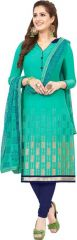 Radiant Cotton Embroidered Salwar Suit Dress Material with Chiffon Dupatta (Code-VP1152)