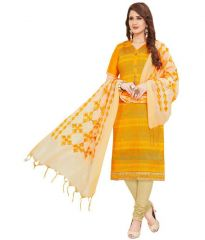 Radiant Cotton Embroidered Salwar Suit Dress Material with Chiffon Dupatta (Code-VP1173)