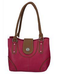 Right Choice Pink and Tan Handbag