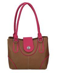 Right Choice Designer Tan And Pink Color Handbag