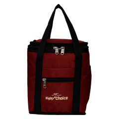 Right Choice Red color Lunch Bag with water bottle pouch