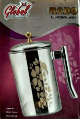 Global Designer Lazer Art Collection Water Jug With Brass Knob