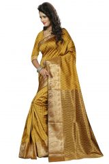 Nirja Creation Yellow Color Cotton Fancy Saree (Code - NC-FR-168)