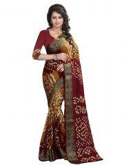 Nirja Creation Maroon Color art silk Bandhani Saree NC1069SSD