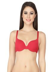 SOIE Cherry Nylon Lycra Bra For Women (Code - CB-108CHERRY)