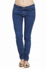 Soie Crackled Washed Denim Pants(Product Code)_D-04Mid Blue_