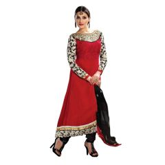 Fabkaz Maroon Long New Designer Party Wear Anarkali Suit - (Code - Kfa108-1010)