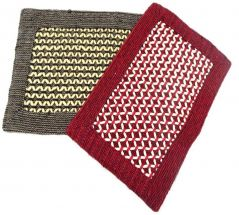 Peponi Polyester Small Door Mat Peponi Multicolor Hand Woven Door Mat Set of 2 (Multi, 2 Door Mat)