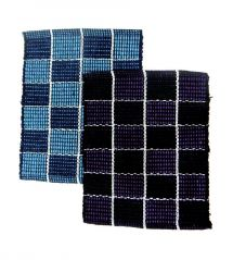 Peponi Multicolor Cotton Hand Woven Door Mat Set of 2