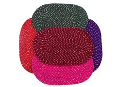Peponi Multicolor Cotton Hand Woven Door Mat Set of 5