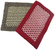 Peponi Multicolor Hand Woven Door Mat Set of 2