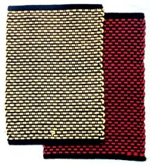 Peponi Multicolor Silk/Cotton Hand Woven Door Mat Set of 2