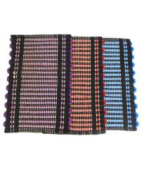 Peponi Multicolour Stripes Cotton Floor Mat Set of 3
