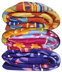 Peponi Multicolor Printed Single Fleece Blanket Set Of 4