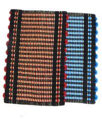 Peponi Multicolour Stripes Cotton Floor Mat Set of 2