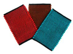 Peponi Polyester Small Cotton Door Mat Set of 3