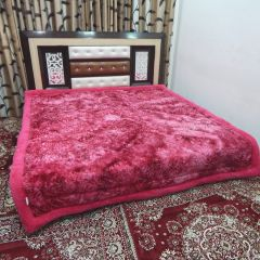 Peponi 4.3 kg pink embossed design  ultra fiber super soft double bed quilt