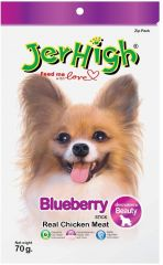 JerHigh Blueberry Dog Treat (70 g, Pack of 1)