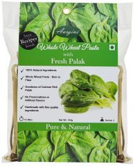 Aurgins Whole Wheat Palak Pasta, Pack of 3 ( 150 g x 3 )
