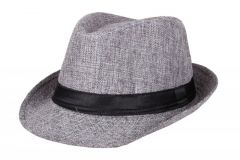 Sushito Grey Dancing Fidora Hat For Unisex Kids
