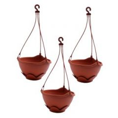PLASTIC HANGING PLANTER-SET OF 2