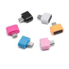 TECHAMAZON Micro USB OTG to USB 2.0 Adapter For OTG Supported Smartphones & Tablets -Pack of 2, Assorted Colours