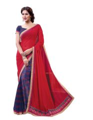 Vipul Womens Georgette Lace bordered Saree (Multicolor)(Product Code)_13718