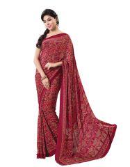 Vipul Womens Crepe Saree (Multicolor)(Product Code)_13861