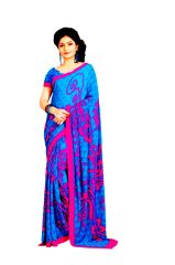Vipul Womens Crepe Saree (Multicolor)(Product Code)_14159