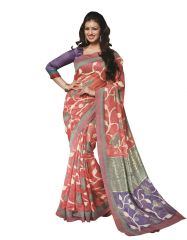 Vipul Womens Bhagalpuri silk foil work Saree (Multicolor)(Product Code)_14229