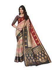 Vipul Silk Sarees - Vipul Womens Bhagalpuri silk foil work Saree (Multicolor)(Product Code)_14232