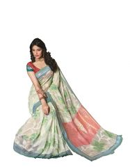 Vipul Silk Sarees - Vipul Womens Bhagalpuri silk foil work Saree (Multicolor)(Product Code)_14246