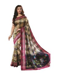 Vipul Silk Sarees - Vipul Womens Bhagalpuri silk foil work Saree (Multicolor)(Product Code)_14247