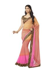 Vipul Georgette Sarees - Vipul Womens Georgette Saree with digital print blouse & border (Multicolor)(Product Code)_14418
