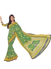 Vipul Womens Georgette lace bordered saree (Multicolor)(Product Code)_14636