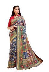 Vipul Multicoloured Bhagalpuri Saree with blouse piece (Code - 14905)