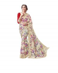 Vipul Multicoloured Georgette Saree with blouse piece (Code - 16613)