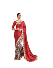 Vipul Multicoloured Georgette Saree with blouse piece (Code - 17104)