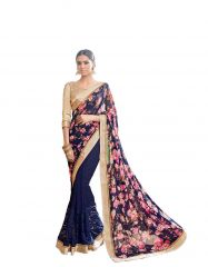 Vipul Multicoloured Georgette Saree with blouse piece (Code - 17118)