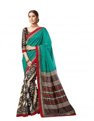 Vipul Multicoloured Art Silk Saree with blouse piece (Code - 17467)