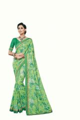 Vipul Multicoloured Tussar Silk Saree with blouse piece (Code - 17530)