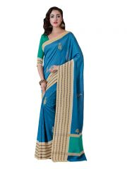 Vipul Multicoloured Art Silk Saree with blouse piece (Code - 18016)