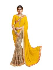 Vipul Multicoloured Georgette Saree with blouse piece (Code - 18224)